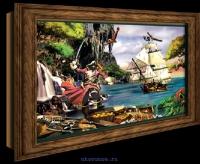 Объемный постер Остров сокровищ